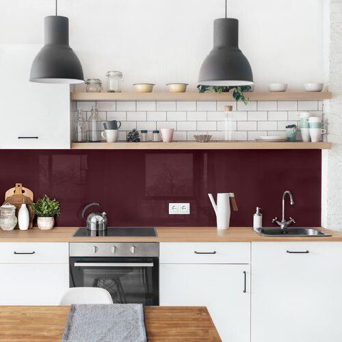 Photo of Ebern Designs PVC Spritzschutzpaneel Selbstklebend Bache Toskana | Wayfair.de