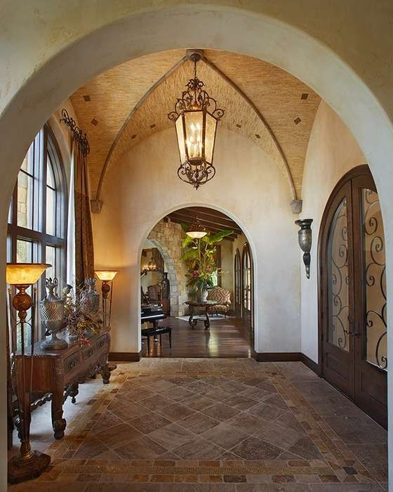 Hall Arch Designs For: Tuscan Home With Groin-vault Ceiling... Love This Entrance