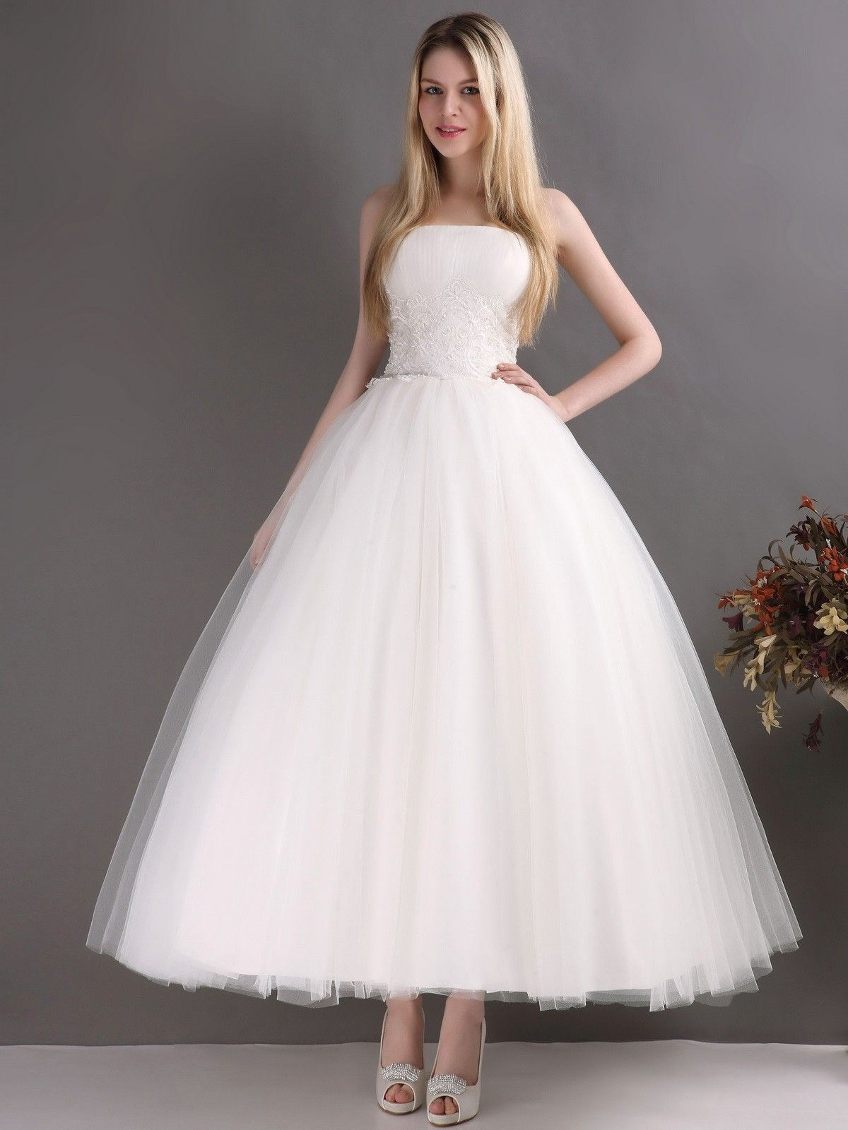ankle length wedding dress google search