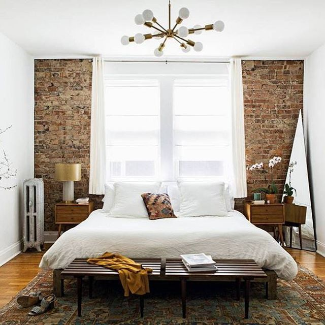 Best Image Result For Boho Mens Bedrooms Brick Wall Bedroom 640 x 480