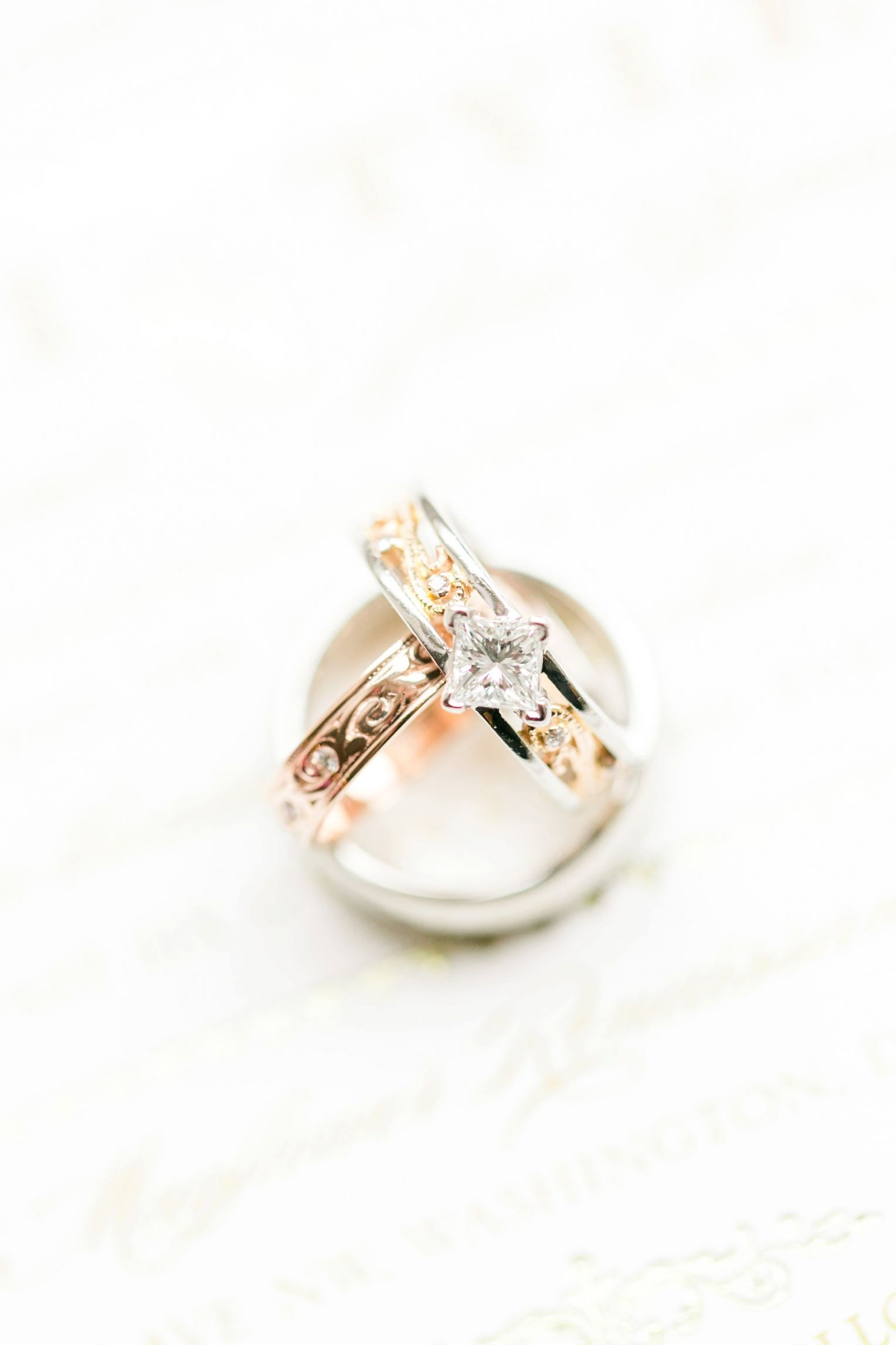 Rose Gold Wedding Rings Mayflower Hotel Photos Dc Pink Winter Megan Kelsey Photography