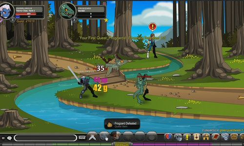 AdventureQuest Worlds is a Browser Based, Free to Play, Role-Playing