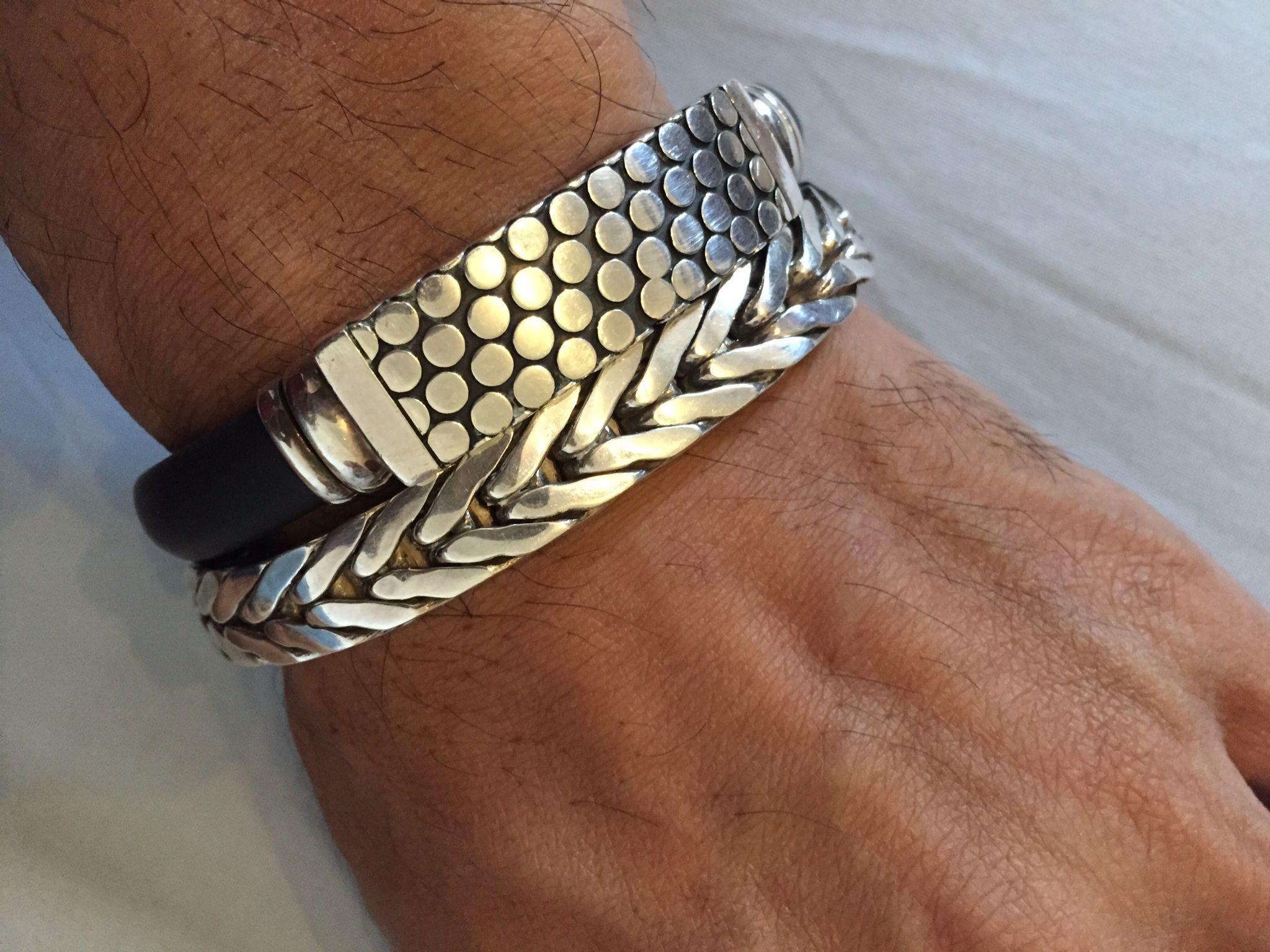Men bracelete etnic bali handmade pulseras de plata pinterest