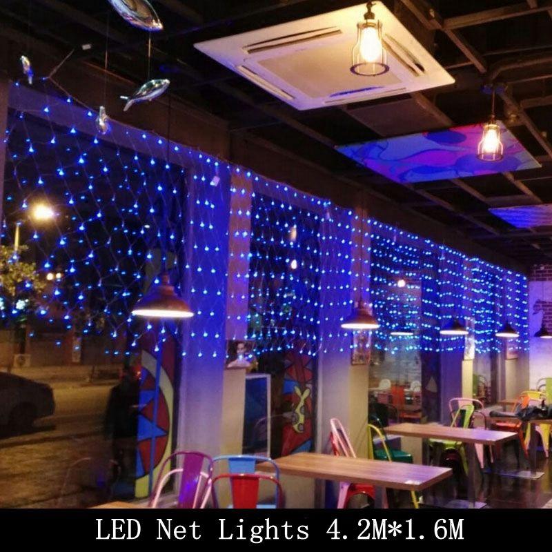 LED Net Light Christmas 42M x 16M 300leds AC 220V Xmas Fairy