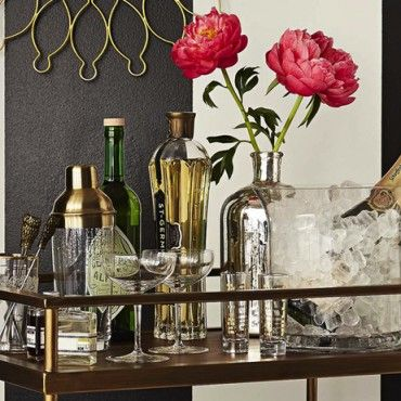 The Bar Cart Is Back 4 New Ways To Style Your Beloved Cart Bar Cart Target Bar Cart Bar