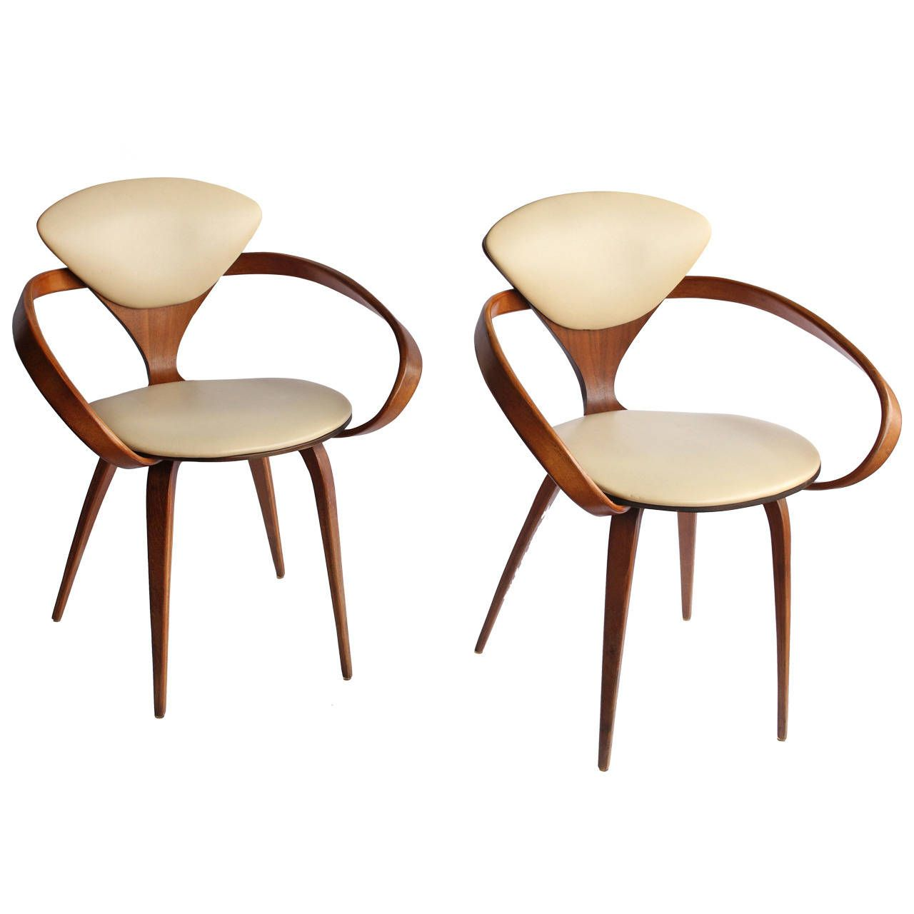 1950s pretzel chairs by norman cherner | norman, pretzels and 1950s