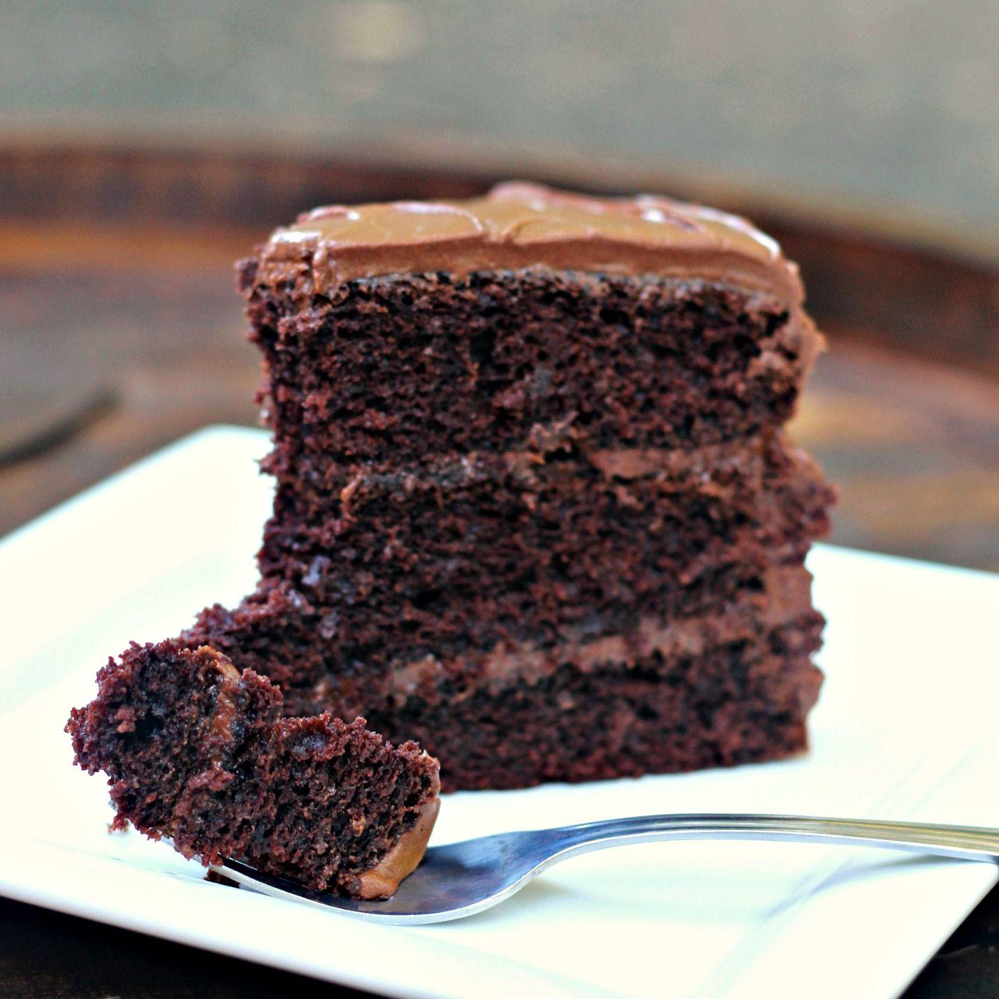 The Best Chocolate Cake Recipe Three Layer Chocolate Cake Chocolate Sour Cream Cake Amazing Chocolate Cake Recipe Chocolate Cake Recipe Best Chocolate Cake