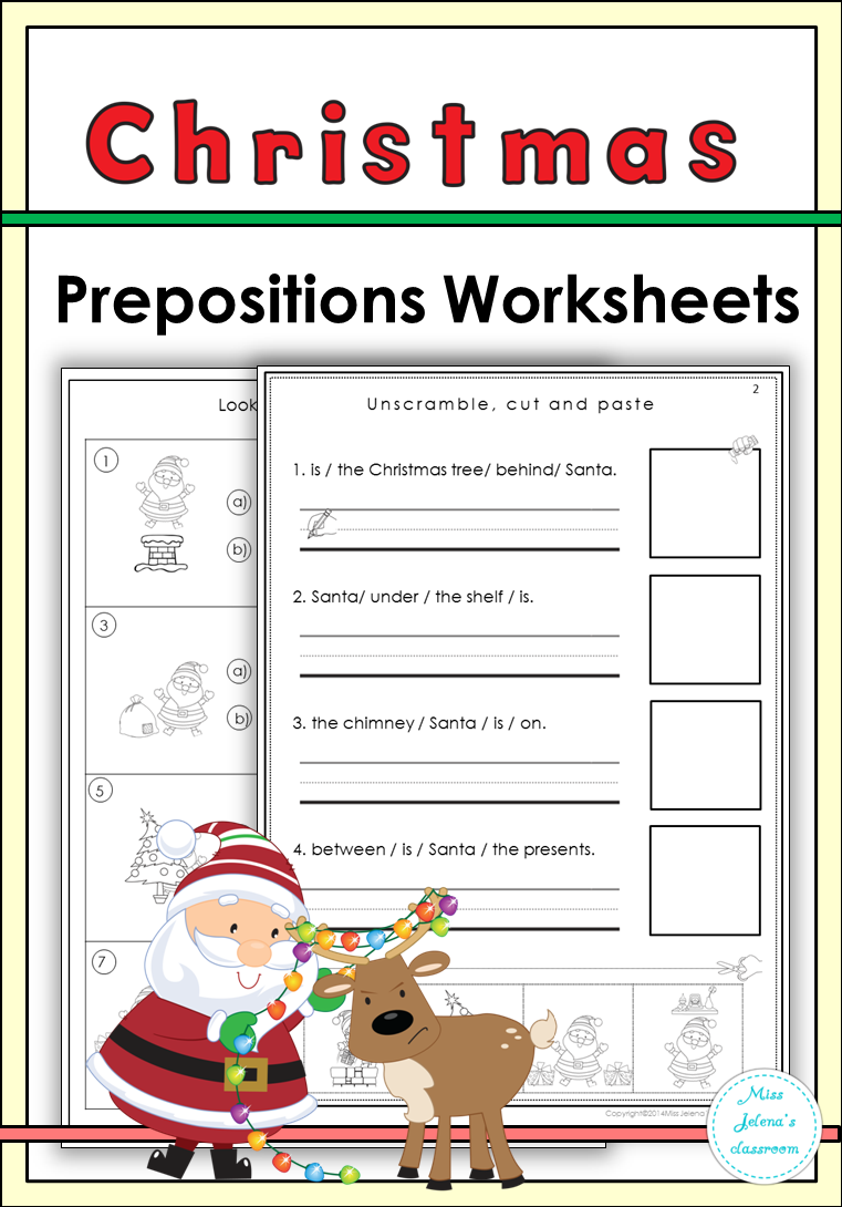 Christmas Prepositions Worksheets Prepositions, Creative