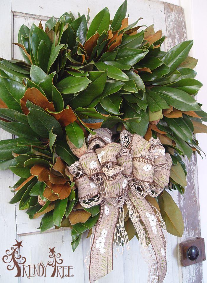 Fresh Magnolia Wreath Tutorial Seasonal Decoration