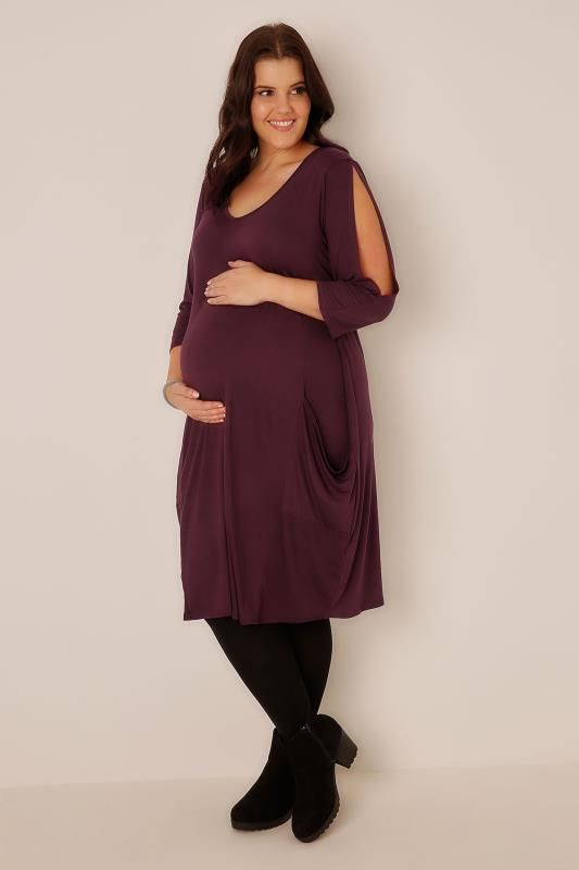 a50845bdcb22a BUMP IT UP MATERNITY Black Maxi Dress | Plus Size Maternity ...