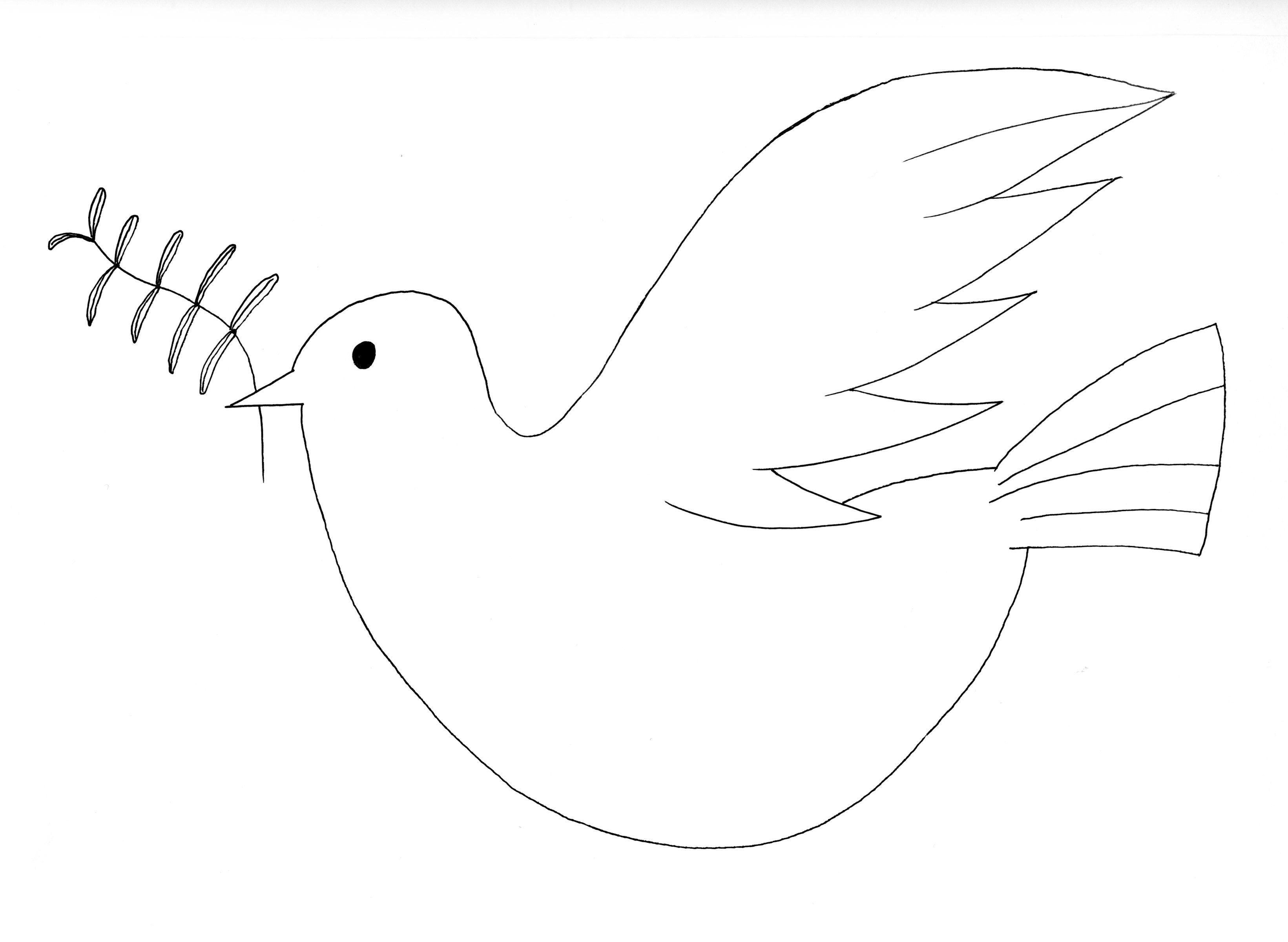 Paloma de la Paz. | Dibujos para colorear | Paloma de la paz