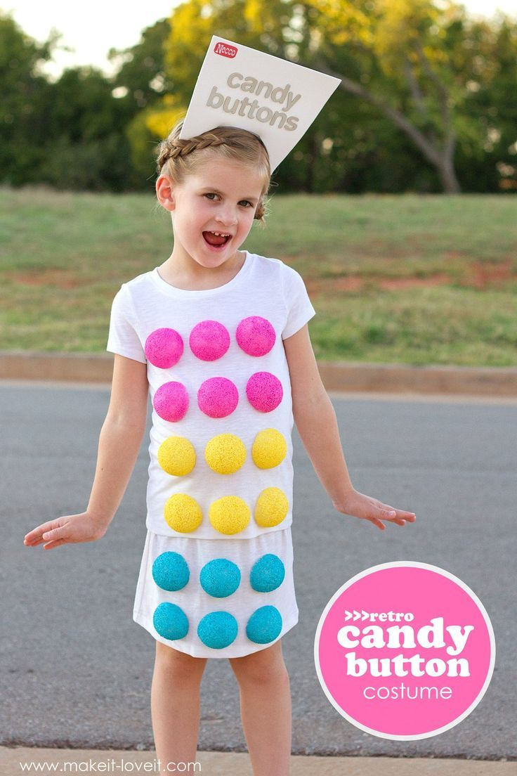 Make a 'Retro CANDY BUTTON' Costume…for Halloween