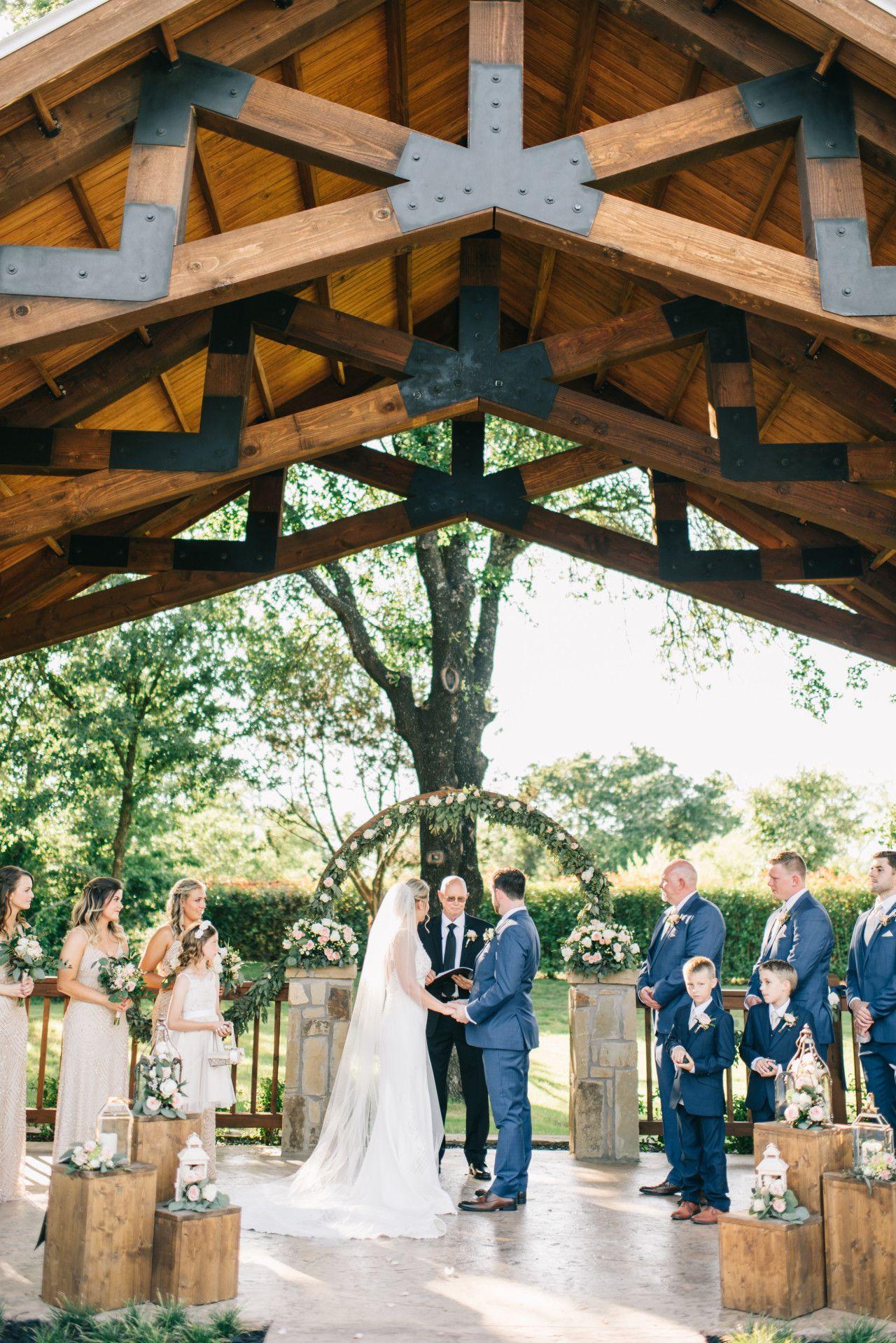 Spring Outdoor Wedding Ceremony Blush Pink Ranch