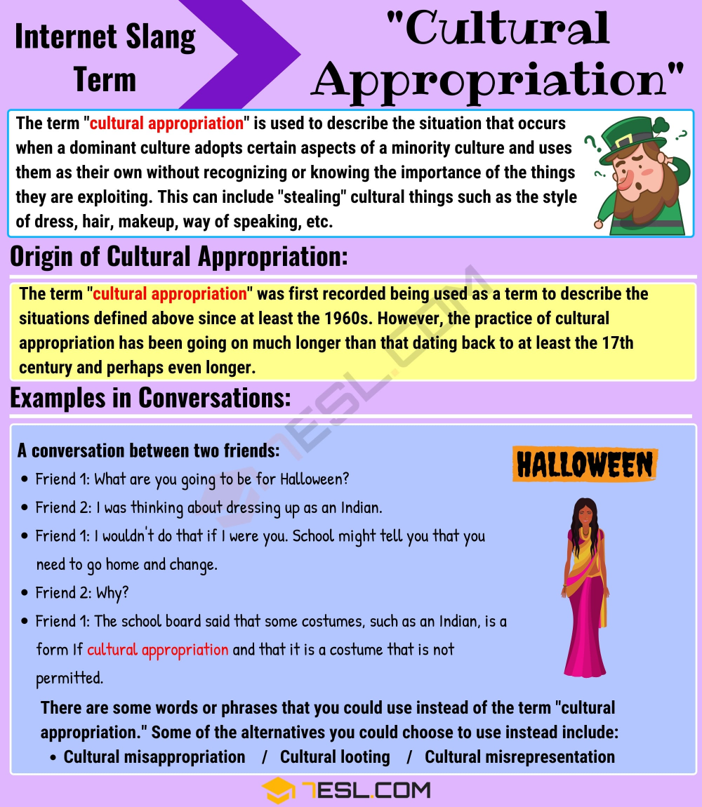 Cultural Appropriation Meaning With Useful Examples 7 E S L Cultural Appropriation Culture English Writing Skills