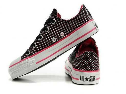 f319b1acbc49 Great Deals Converse All Star White Pink Stars Low Top Canvas Black ...