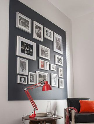 cr er un mur de cadres mur de cadre cadre photo sweet home et ideas. Black Bedroom Furniture Sets. Home Design Ideas