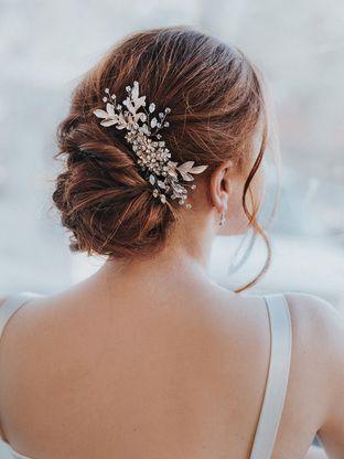chelsea large bridal leaf hair comb bridal hair hair combs and weddings