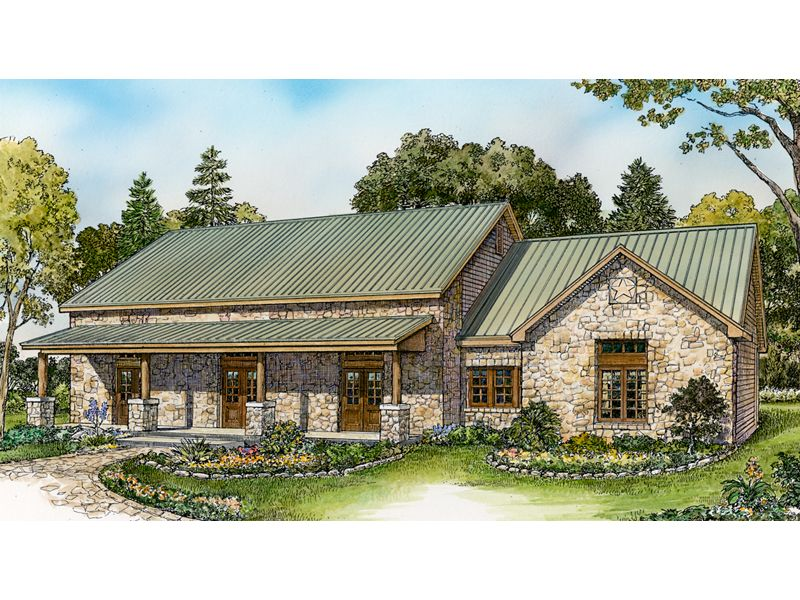 Sugar Tree Rustic Ranch Home Ranch House Designs Ranch Style Homes Hill Country Homes
