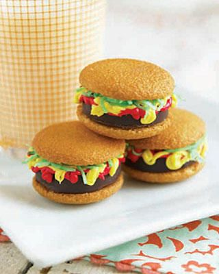 these burger cookies are too cool