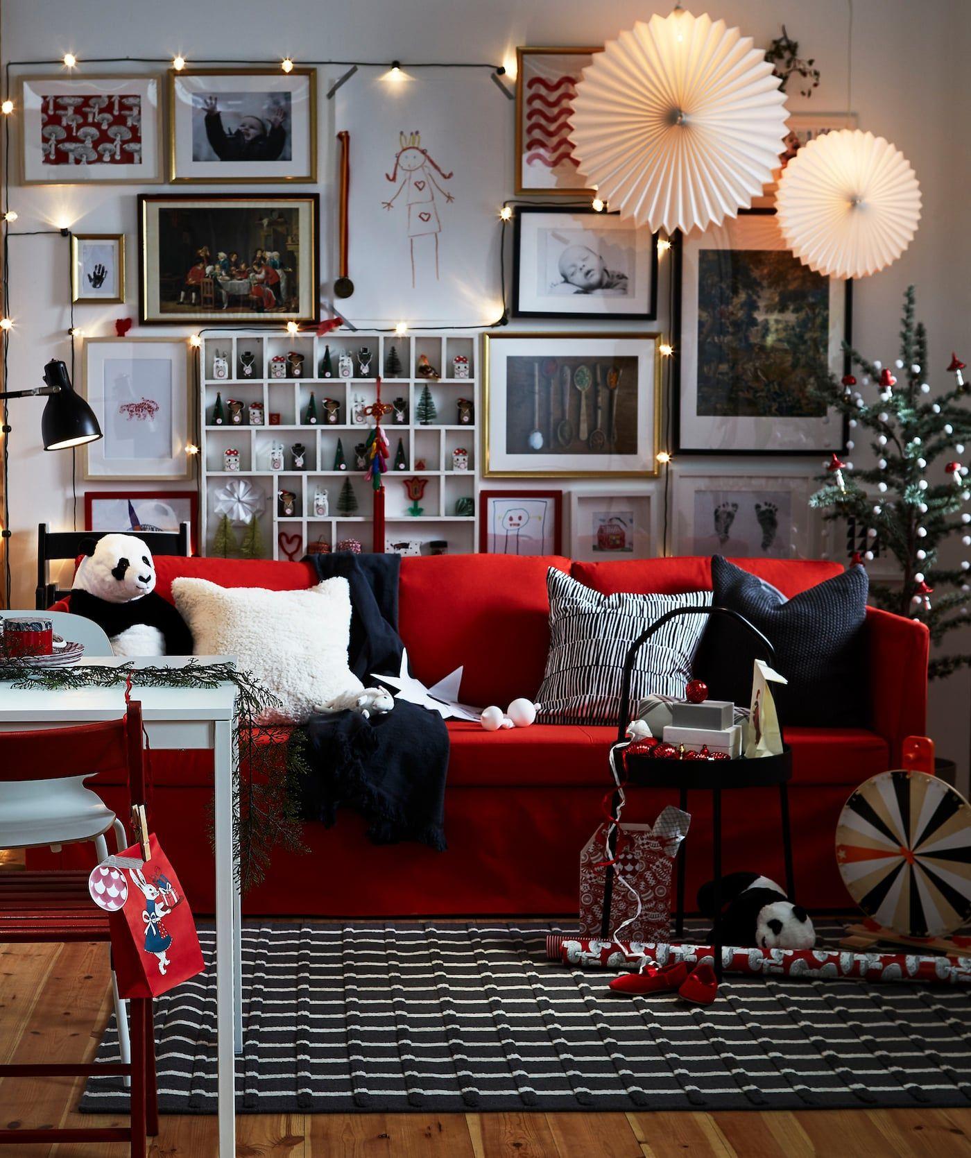 ikea nous inspire avec trois salons pour no l blackwhite. Black Bedroom Furniture Sets. Home Design Ideas
