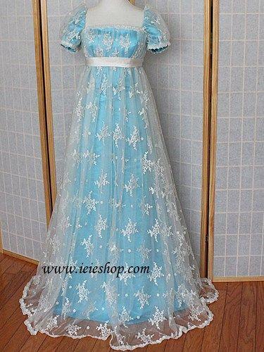 """Emma"" Regency Edwardian Victorian Princess Gown Jane Austin Empire | ieiedress - Clothing on ArtFire"