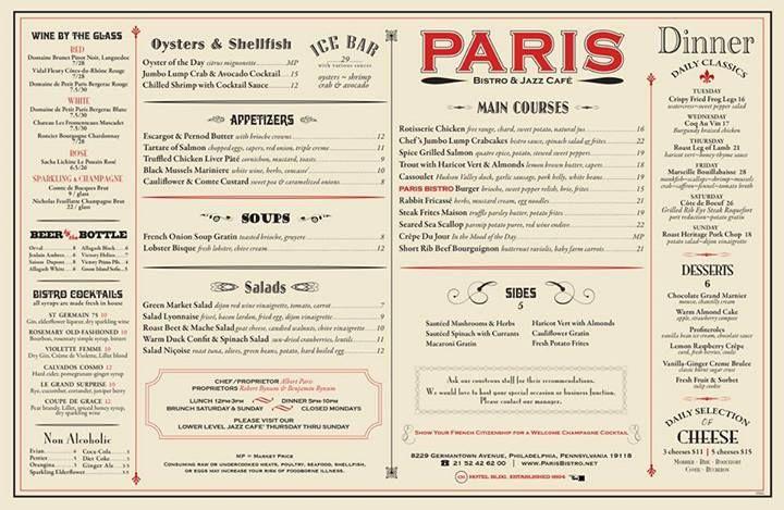 Bistro Menu Bistro Menu French Restaurant Menu Cafe Menu Design