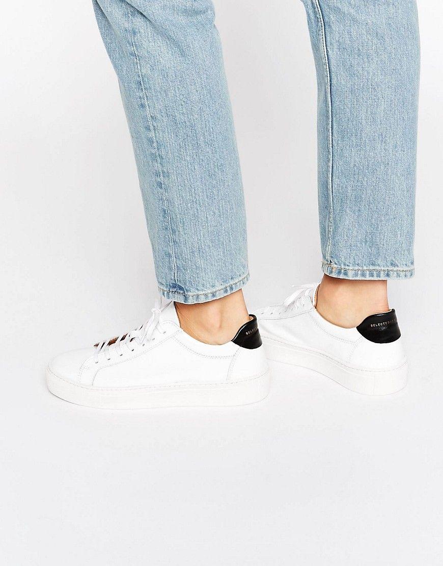 Compra Deportivas de mujer color blanco de Selected al mejor precio.  Compara precios de zapatillas de tiendas online como Asos - Wossel España 8b96825d299a