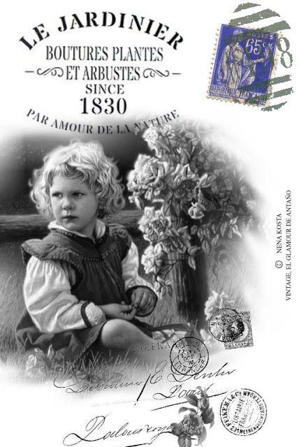 VINTAGE, EL GLAMOUR DE ANTAÑO MIS DISEÑOS VINTAGE Transferencias - diseos vintage