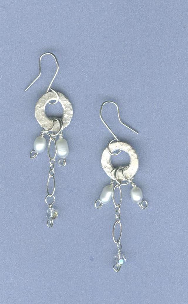 Metal Clay Earring Projects: Fine Silver Link, Pearl, and Crystal Earrings