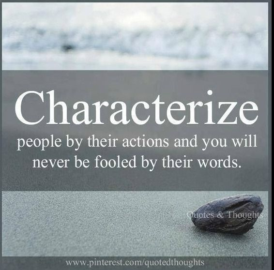 actions speak loud and clear.