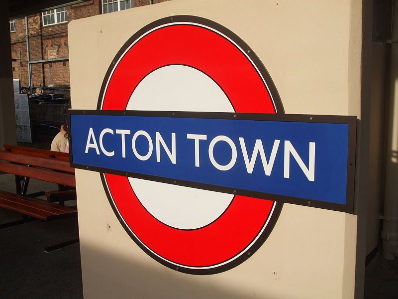 Acton Town station roundel