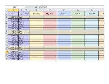 Editable Teacher Planner Spreadsheet Template Updated For 2019