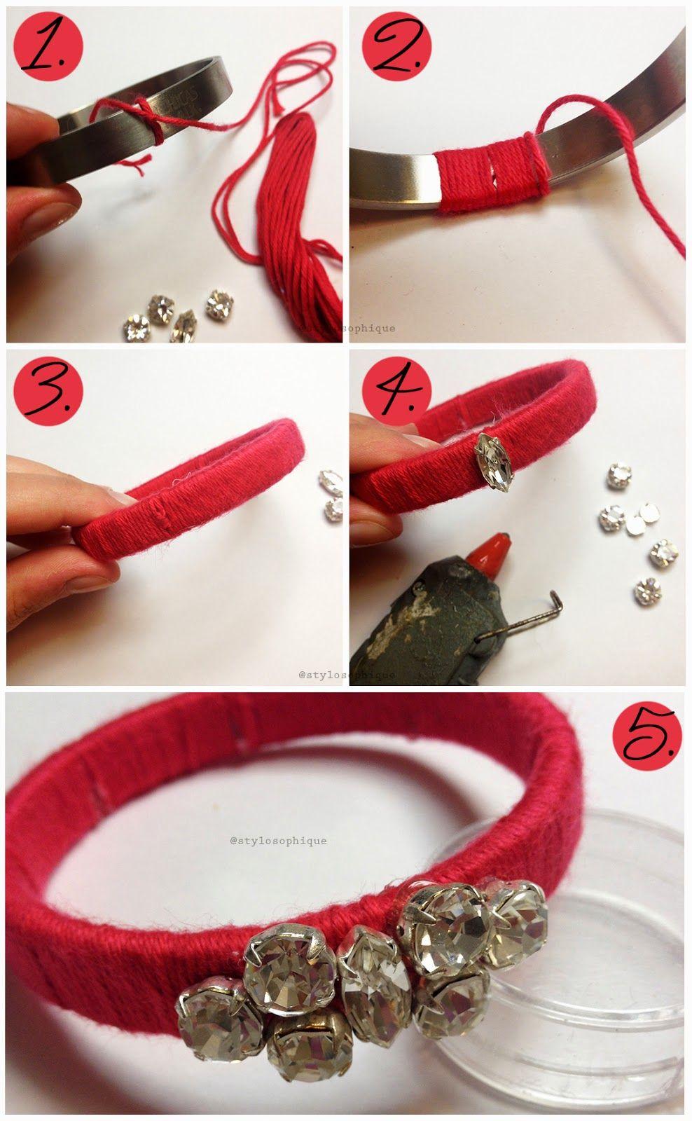 DIY Wrap Embellished Bracelet ~ Iris Tinunin - Fashion & Beauty Blogger more on www.stylosophique.com