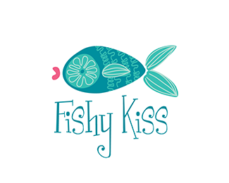 Fishy Kiss Logo Design Fish Kids Pets Con Imagenes Peces