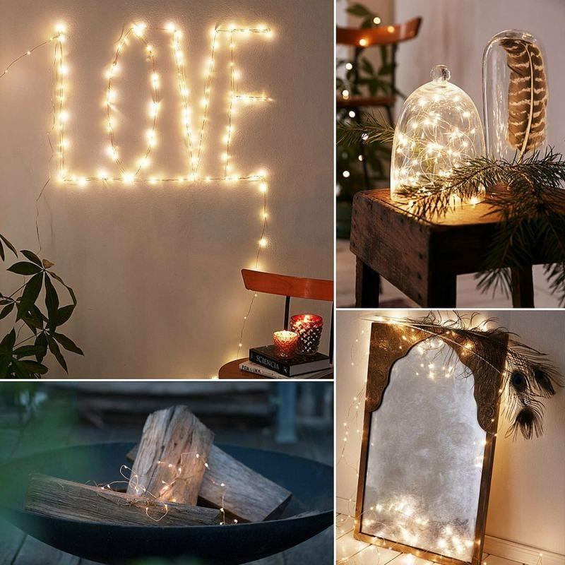 DIY Ideen mit Lichterketten und Federn