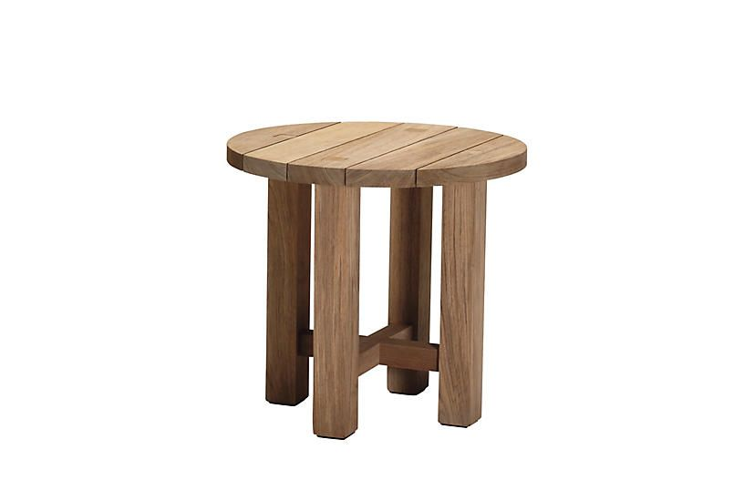 Croquet Teak Side Table Natural 599 00