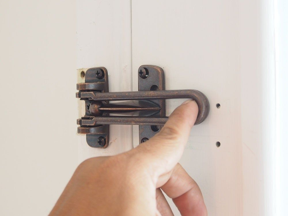 How To Install A Swing Bar Lock Door Lock Security Home
