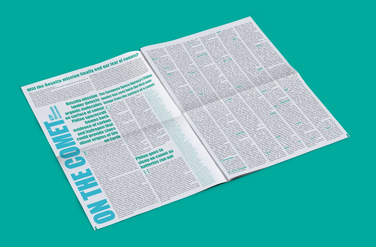 "Newspaper ""Rosetta"" on Behance"