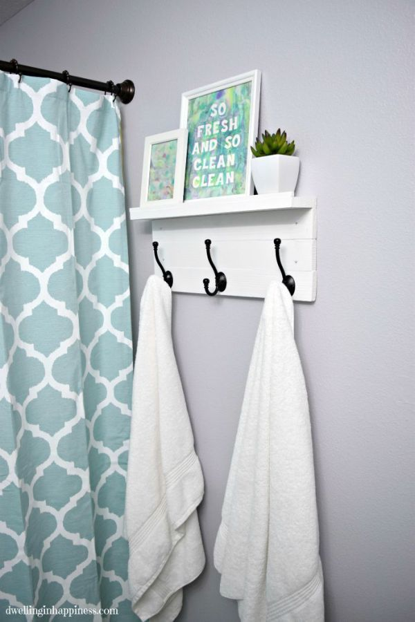 Light & Bright Guest Bathroom Makeover  The Reveal  Small Gorgeous Where To Hang Towels In A Small Bathroom Inspiration
