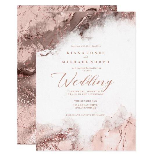 Marble Glitter Wedding Rose Gold Id644 Invitation Zazzle Com Glitter Wedding Rose Gold Wedding Invitations Country Wedding Invitations