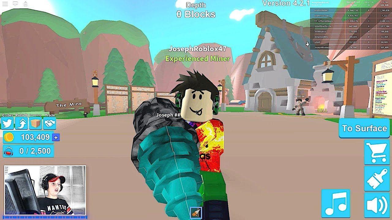 100 Million In Roblox Mining Simulator Roblox Adventures Roblox Adventures Roblox Simulation