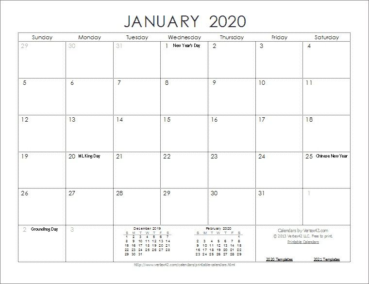 image relating to Www.printablecalendars.com � Www.freeprintable.net identified as 2020 calendar templates and free of charge printable calendars and