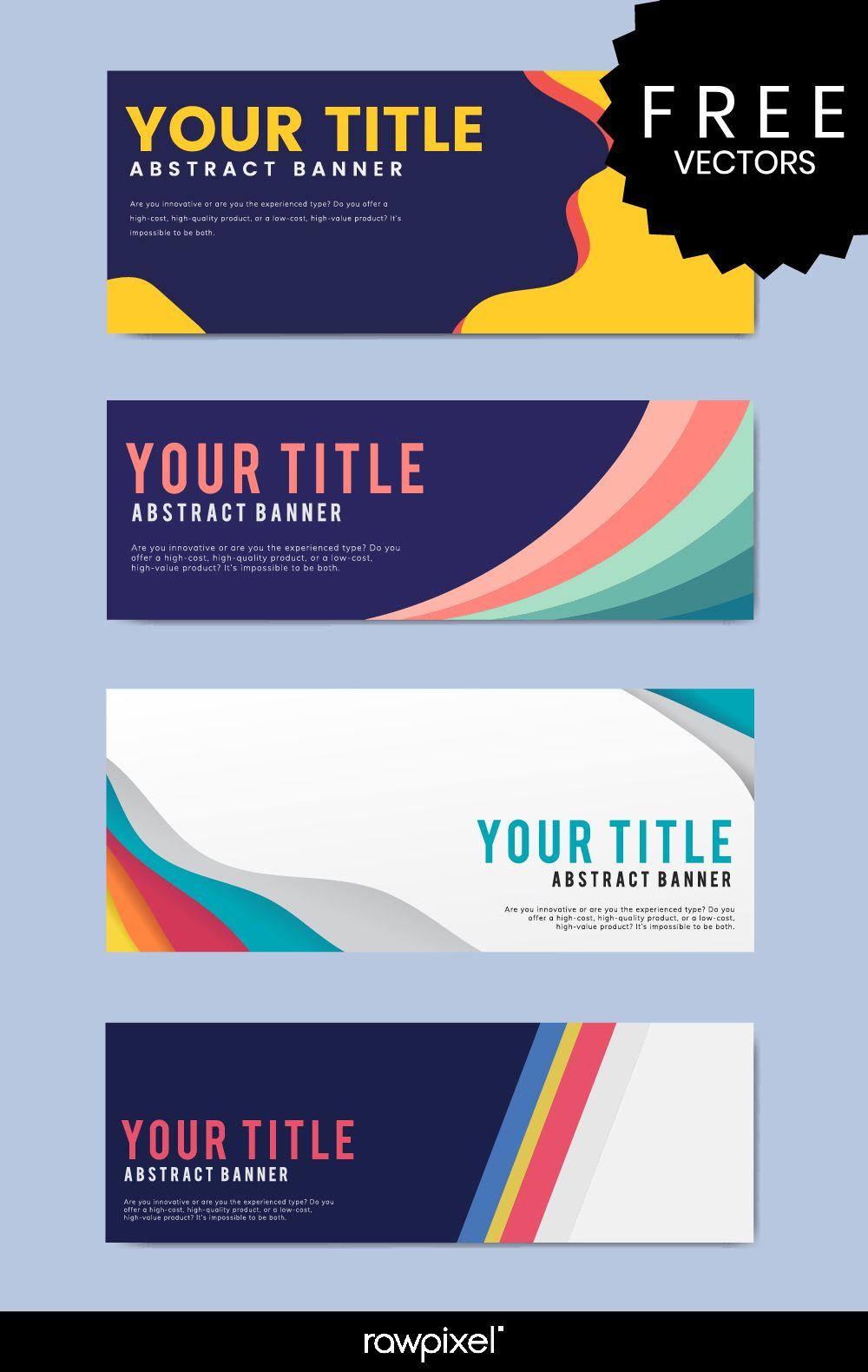 Download Free Modern Business Banner Templates At Rawpixel Com Banner Design Inspiration Business Banner Banner Template Design