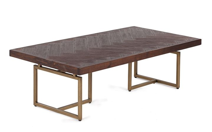 Bruno Coffee Table Featuring Rustic Finished Acacia Wood Laid In