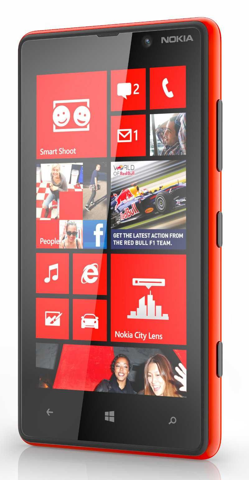pretty nice a3047 f611f Nokia Lumia 820, WiFi, 8GB, 8MP, Windows Phone 8 Red | Online Mobile ...