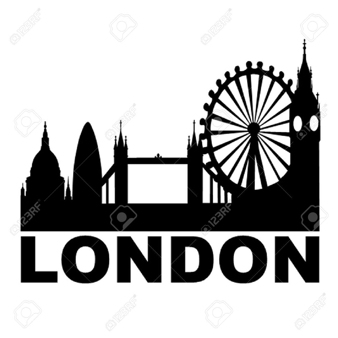 London Skyline Royalty Free Cliparts Vectors And Stock