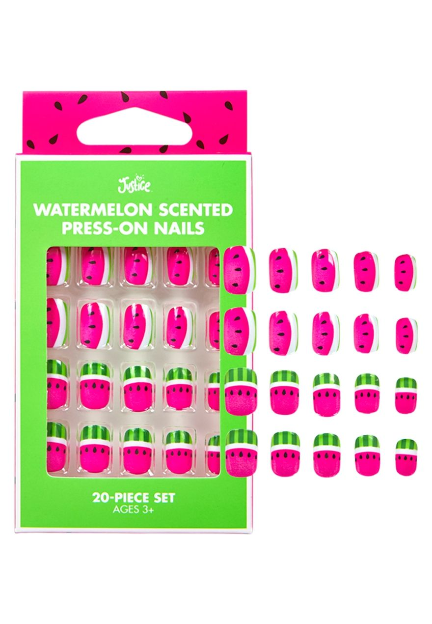 Watermelon Scented Press On Nails | Justice new do | Pinterest ...