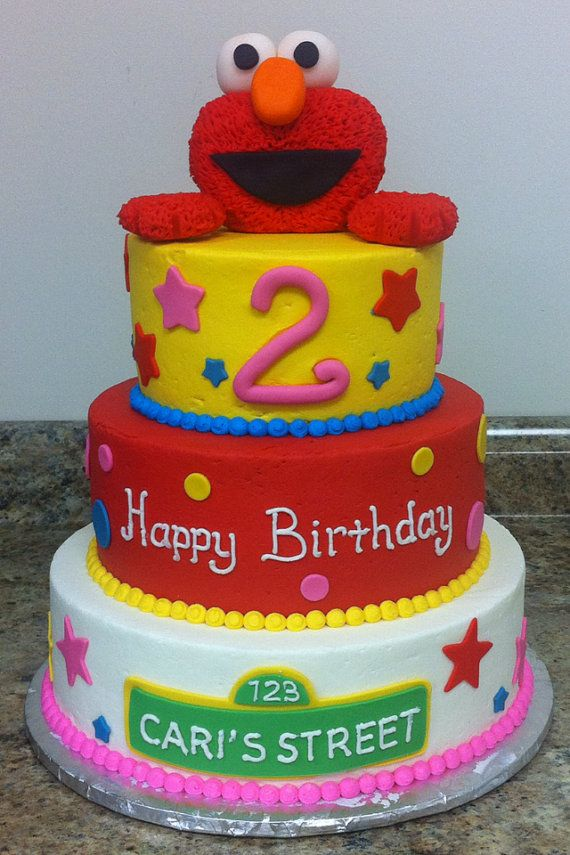 3D Elmo Inspired Edible Fondant Cake Topper By EdibleArtbyAce 3500