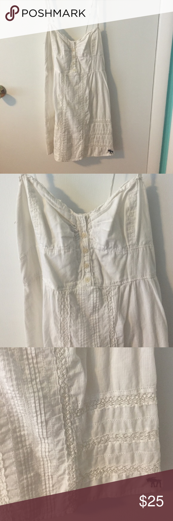 SOLD- Cream Abercrombie & Fitch Peasant Dress