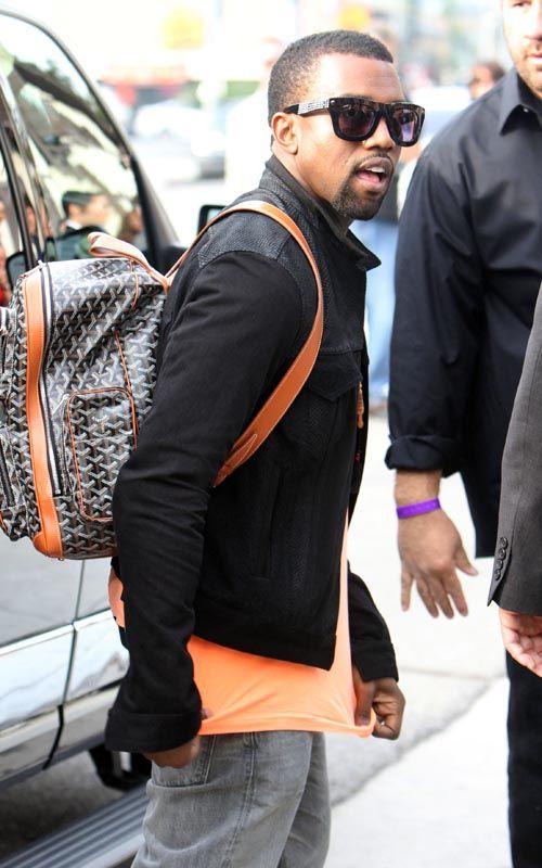 Celebs Style Kanye West Tyga Swizz Beatz Don C Carrying A Goyard Bag Briefcase Kanye West Kanye West Style Mens Fashion